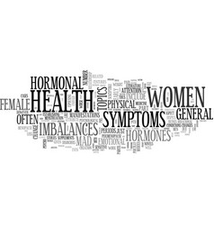 A guide to general female health text word cloud vector