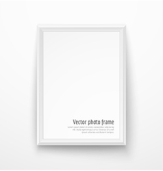 Blank white picture frame vector image vector image