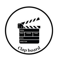 Movie clap board icon vector image