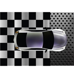 sport car at finish vector image