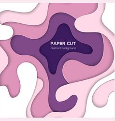 abstract layout with paper cut shapes vector image