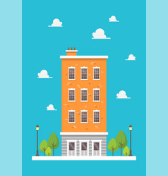 apartment in flat style design vector image