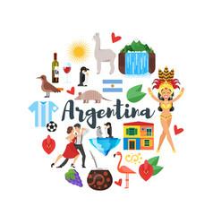 Argentina national cultural symbols vector