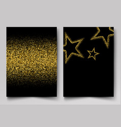 background with gold shiny stars gold vector image