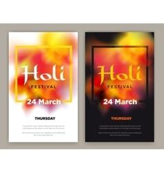 Beautiful Indian festival Happy Holi celebrations vector image
