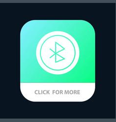 Bluetooth ui user interface mobile app button vector