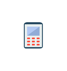 calculator icon flat element vector image