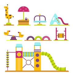 Children playground kindergarten amusement vector