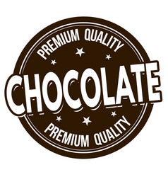 chocolate label or stamp vector image