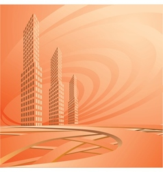 city landscape is in light tones vector image