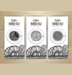 coffee menu design sketch of cup of coffee vector image
