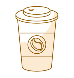 Coffee plastic cup isolated icon vector