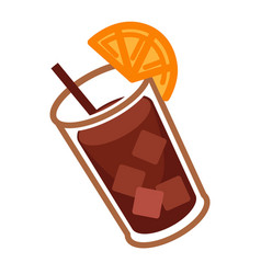 Coke cocktail with citrus vector