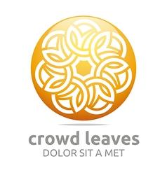 crowd leaves ecology floral design vector image