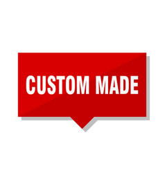 custom made red tag vector image