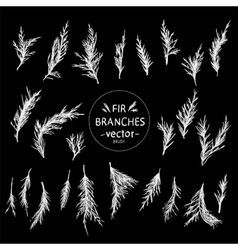 Decorative hand in the form of fir branches vector