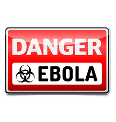 Ebola virus danger sign with reflect and shadow vector