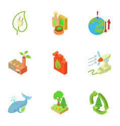 ecological compatibility renewal icons set vector image