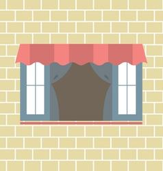 Flat Design Window vector image