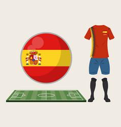 football spain sport wear vector image