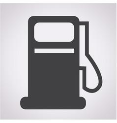 gas pump icon oil station icon vector image
