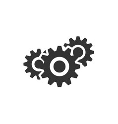 gear setting icon graphic design template vector image