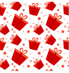 gift box red present packs christmas or birthday vector image
