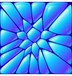 Glossy blue wet bricks vector