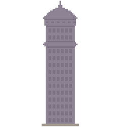 high rise building tower for computer pixel game vector image