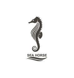 icon seahorse vector image