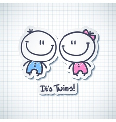 its twins vector image