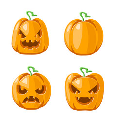 jack o lantern halloween pumpkin decoration scary vector image