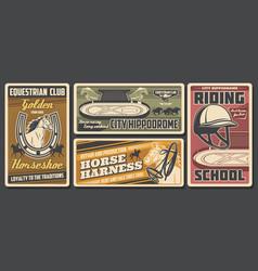 jockey horse race equestrian sport polo club vector image