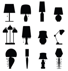 Lamp furniture black vector