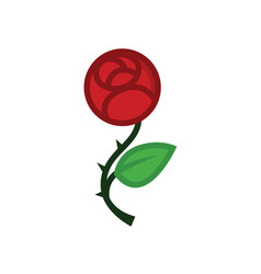 love rose flat line icon vector image