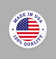 made in usa 100 percent american quality seal vector image
