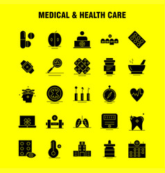Medical and health care solid glyph icon for web vector