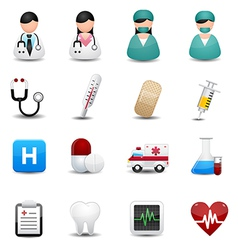 medical icons symbols vector image