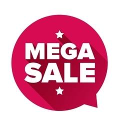 Mega Sale sticker vector