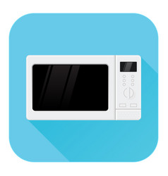 microwave oven flat design blue icon vector image