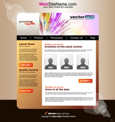 modern website vector image