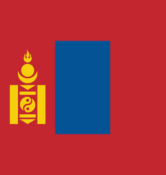 Mongolia flag for independence day and vector