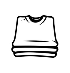 Monochrome stack of shirts concept vector
