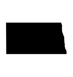 North dakota state of usa - solid black vector