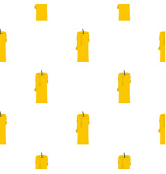 One candle pattern seamless vector