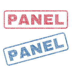 Panel textile stamps vector
