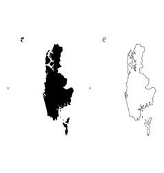 Phang nga province map vector