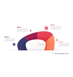 Pie chart infographic template in form vector