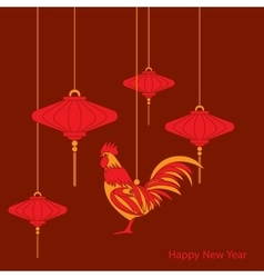 Raditional chinese lantern vector