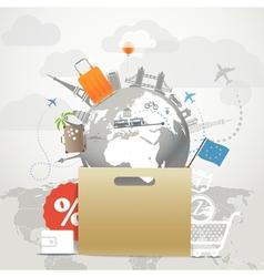 Shopping time concept vector